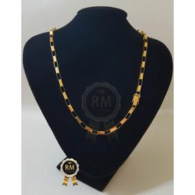 Cordão Pulseira Cartier Maciço 20g Pingente 4g Ouro 18k 750