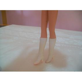 Bota Branca Barbie Estrela Antigo