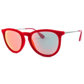 bfaef1d8622fa Ray Ban Erika Rb 4171l 6076 6q Vermelho T54 Óculos De Sol