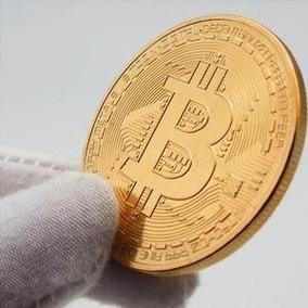 05pcs Moeda Fisica Bitcoin Detalhes Alto Relevo Coleçao