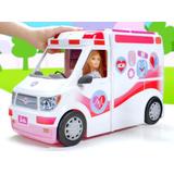 Barbie Hospital Ambulancia Movil Luces Y Sonidos D. Gratis