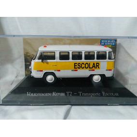 Miniatura Volkswagen Kombi T2 Transporte Escolar Escala 1/43