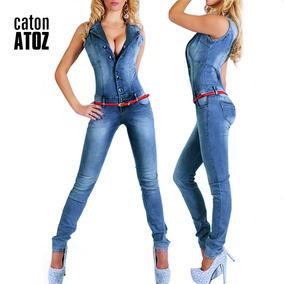 Macacão Longo Jeans Importado Ref5679