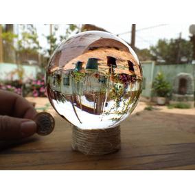 Bola De Cristal 10cm Fotografia 100mm C/suporte +chaveiro