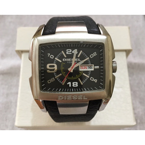 4b7b5796511 Relógio Diesel Dz-1215 Com Pulseira Em Couro Preto