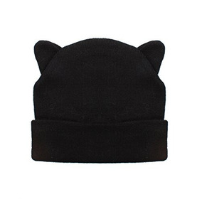 Sombrero De Gorro Negro De Señoras Con Cool Cat Ears Design 66aefd07c5d