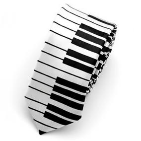 Corbata Piano Teclado Pianista Hombre Slim