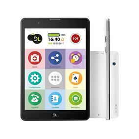 Tablet Dl Tabfácil Tx385 - Branco, Tela 7 ,3g, Wi-fi, 8gb,