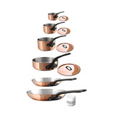 Mauviel 6530.06 Mheritage M250c 2.5mm Copper Cookware Set, 1