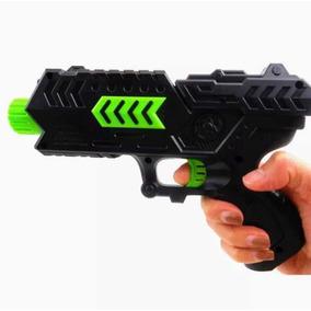 Arminha Pistola Nerf Atira Bolinhas De Gel E Dardos + Brinde