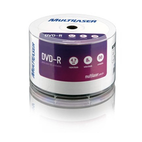 Midia Dvd-r Vel. 16x 50 Un. Shrink Dv050pp Multilaser