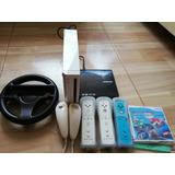 Nintendo Wii (lee Copias Y Originales) 3 Mandos, 1 Nunchuck