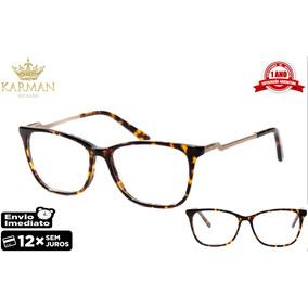 Armação Óculos P  Grau Feminino Acetato Original F0283 Fd · R  78 6d2d2e6329