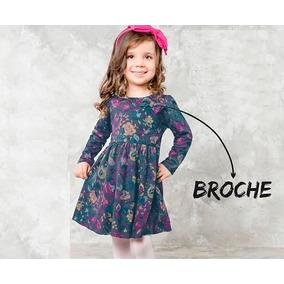 Roupas De Bebe Menina Vestido Bebe Inverno Detalhe Broche