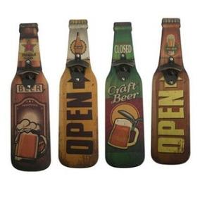 Abridor De Garrafa Magnético Parede Em Mdf - Cerveja