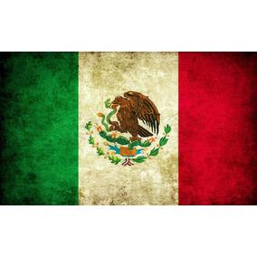 Lienzo Tela Canvas Arte Bandera Nacional México 100 X 60 Cm d23ab9a59d3