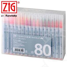 Kuretake Zig Clean Color - Estojo C/ 80 - Estados Unidos