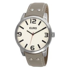 0e4d5e063dd Relogio Feminino Marrom Euro - Relógios De Pulso no Mercado Livre Brasil