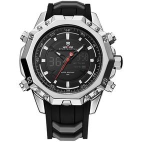 Lujoso Reloj Weide Wh6406b Con Estuche Pantalla Lcd