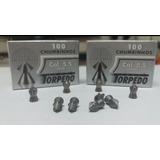 10 Caixas Chumbinho 5.5 Torpedo Bolt + Luneta 4x20 R.scope