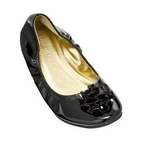 Hermosos Zapatos Flats Loeffler Randall Piel Charol Negros!!
