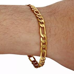 Pulseira Dourada Masculina - Joias e Relógios no Mercado Livre Brasil 3bd756a44f