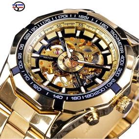 Relógio Winner Forsining Automático Masculino Esqueletizado