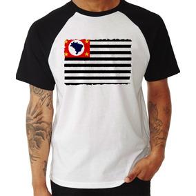 Camiseta Bandeira Do Estado De São Paulo - Camisetas Manga Curta ... ca88bdb45ac41