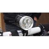 Farol Bike Bicicleta De 3 Leds T6 4000 Lumens 6x18650