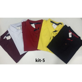 Kit 5 Camisas Polo Tamanho Especial G1 G2 G3 Plus Size - Calçados ... dd0c086864b8a