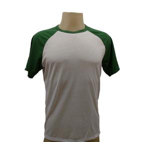 10 Camiseta Raglan Branco Blusa Poliéster Sublimação Atacado