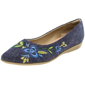 Sapatilha Feminina Jeans Piccadilly - 254055