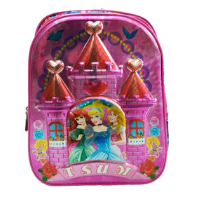 Mochila Escolar Infantil Grande Feminina Costas Princesas