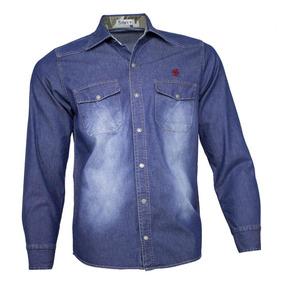 Camisa Jeans Masculina Stone Camuflada ff284e9de33