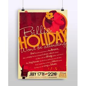 Poster Billie Hollyday - Jazz - Musica