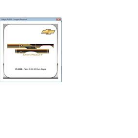 Faixa Lateral D20 1996 Ouro Cabine Dupla