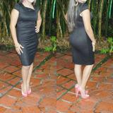 Vestido De Dama Negro Elegante Talla M