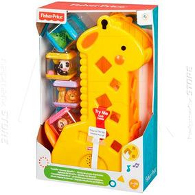 Girafa Girafinha C/ 4 Blocos Encaixar Educativo Fisher Price