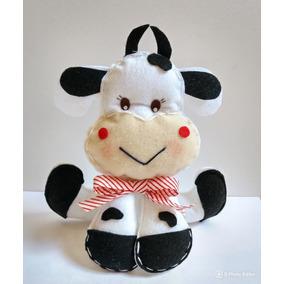 Vaquinha De Feltro P Decoração - 20 Cm Vaca De Feltro