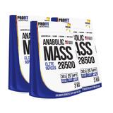3x Hipercalórico Anabolic Mass 28500 3kg + Coq Grátis Profit