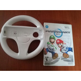 Wii Mario Kart Juego Y Volante Originales