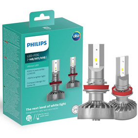 Par Lâmpada H8 H11 H16 Led Philips Ultinon Fog 6200k 12v 5w