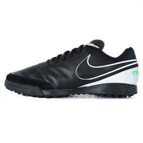 Botines Nike Tiempox Genio Ii Leather (tf) Negro Hombre
