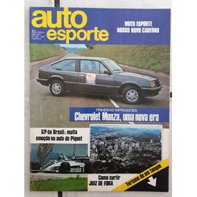 Revista Auto Esporte N 209 1982 Chevrolet Monza Gp Brasil Pi