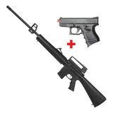 Carabina Pressão Rossi Rifle M-16 M16 Gas Ram 5,5mm + Brinde