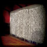 Cortina De Led Branca 500 Leds 3m X 2.5m 110v