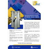 Deionizador De Água Up Brasil Desmineralizador 100 Litros