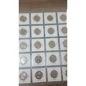 Moeda Coleção Olímpica Completa Flor De Cunho Em Coin Holder