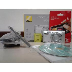 Camara Nikon Coolpix S3600 20 Mp 8x +8 Gb