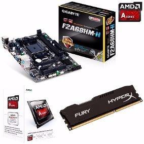 Kit Upgrade Gamer Gigabyte Fm2 + A4 4000 + 8gb Ddr3